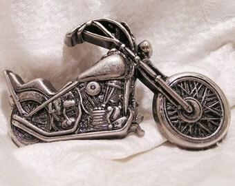 Vintage Chopper Motorcycle Belt Buckle Perfect for Biker Gun Metal Color (J123)