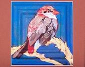 Print of my Original painting of this Bird with signed matt  Linda Kelly