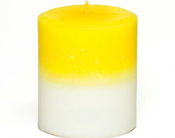 Paradise French Vanilla Tropical Candle Pillar - Gift for Mom - Decorative