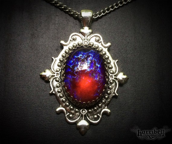 Dragons breath glass fire opal necklace mexican fire like this item aloadofball Choice Image