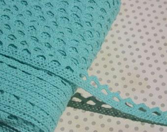 """Aqua Cluny Lace - Narrow Cluny Crochet Torchon Trim - 1/2"""" Wide"""