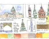 Sites of Budapest ~ original watercolor