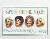 Golden Girls stud earrings