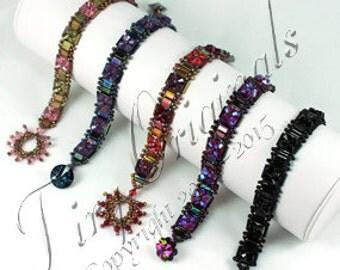 KR027 TUTORIAL - Double Trouble Bracelet - Beadweaving Pattern Instructions