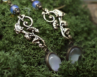 Korrigane - Faerical Earrings Moonstone bronze