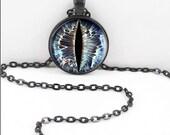 Dragon Eye Necklace, Dragon Eye Pendant, Animal Eye Third Eye Bohemian Gypsy Jewelry RW602