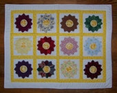 Scrappy Quilted Dresden Plate Table Runner Table Mat Snack Mat Placemat