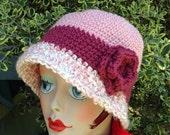 Crochet Cloche Hat Women Downton Abbey Style Fashion