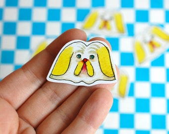 Little Dog Head Sticker