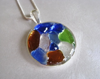 Multi-Colored Sea Glass Necklace - Sea Glass Jewelry - Sea Glass Necklace - Beach Glass Jewelry