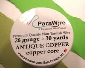 Antique Copper over Copper Core - 26 Gauge Wire from ParaWire - 30 yard Spool
