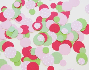 NEW Strawberry Shortcake Confetti Mix - strawberry, pink, green, polka dots birthday party