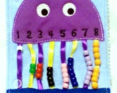 Quiet book learning numbers - busy book - toddler learning toy - educational gift - church quiet book - preschool toy -  #QB54