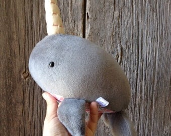 Narwhal Plush, Narwhal Toy, Whale Toy, Stuffed Narwhal, Stuffed Animal, Unicorn Plush, Unicorn Toy, Baby Shower Gift, Gifts for baby