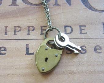 Vintage Lock & Key Necklace