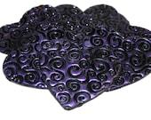 Heart Shaped Embellishments - Polymer Clay - Set of 7 - Swirls - Liquidation Sale