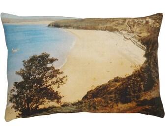 Scatter cushion, Ocean themed decor, Vintage Beach, Coastal style cushion
