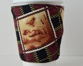 Last Call - Hunters Dream Coffee Cup Cozy, which is Eco Friendly & Adjustable for hot and cold drinks - READY TO SHIP