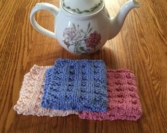 Knit Dishcloths Set