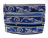 """1.5"""" Blue CELTIC DOG 14-18"""" Martingale Dog Collar renaissance or medieval"""