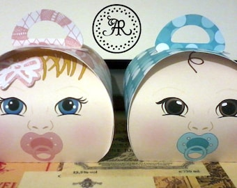 Baby, Baby Shower, Holder, Baby Girl or Boy, 3D Box, Treat Box, 1/2 Price Label, Favor Box, Treat Holder, Handmade by Annie42 - AR Creations