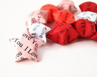 50 Origami Lucky Stars - I Love You