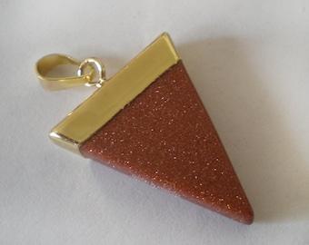 30x25mm Brown Tigereye Triangle Stone Pendant