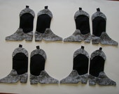 12  Cowboy or Cowgirl Boot appliques for quilts    Style  1 lot 114