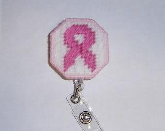 Awareness Ribbon Retractable Badge Clip