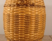 Free shipping-Native American basket- large, sweet grass, ash,very fine condition