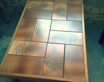 Mid Century Tile Table - Modern Tile Coffee Table - Modern Danish Table -