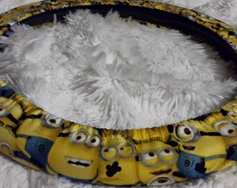 Packed Minions * Steering Wheel Cover * Seat Belt * Yellow Cuties * Despicable Me *