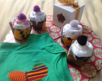 Cupcake onesies bodysuit with Africa logo