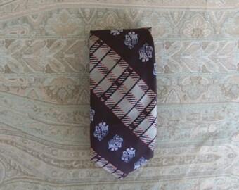 Vintage Sears 1970's Men's Brown Necktie