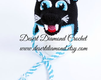 Crochet Pattern 106 - Sir Purr Carolina Panther Hat