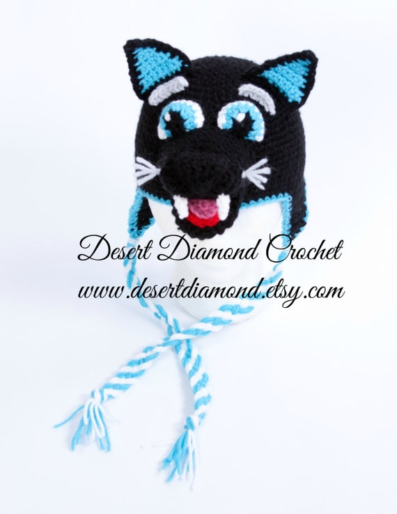 Sir Purr Carolina Panther Hat - Made to Order - Any Size
