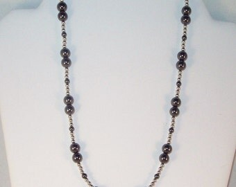 Hematite and Silver Necklace