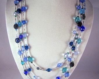 Shades of Blue Crystal Ensemble