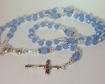 Baby Boy Blue Confirmation Rosary - Made to Order - Choice of Colors