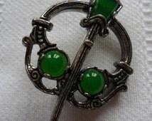 Scottish Sword and Shield Brooch