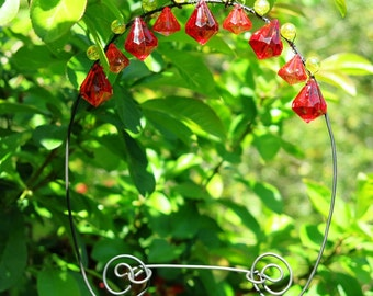 Hummingbird Perch Swing Handmade with Beads