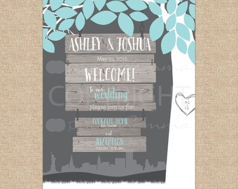 Rustic Wedding, Wedding Welcome Sign, Wedding Sign, Rustic Wedding, Fall Wedding, Autumn Wedding / Art Print or Canvas / W-W01-1PS XX2 06S