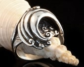 Silver Ring Wave Ring Wave Jewelry Ocean Ring Mavericks Wave Ring Silver Ocean Ring Ocean Jewelry Surfer Ring Nautical Jewelry Beach Jewelry