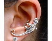 Gecko Ear Cuff Silver - Lizard Ear Cuff - Gecko Jewelry Gecko Earring Lizard Jewelry Lizard Earring Gecko Earring Non-Pierced Earring Animal