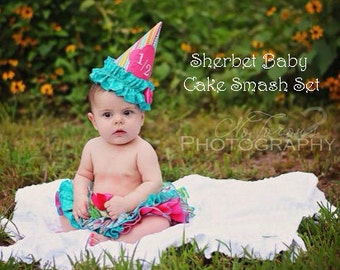 Birthday Hat Four Ruffle All Around Ruffle Candy Shop Theme Sassy Pants Ruffle Panty Diaper Cover Bloomer Skirt