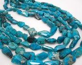 Sleeping Beauty Turquoise, Sleeping Beauty Beads, Natural Turquoise, Faceted Nuggets, SKU 4701