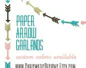 Arrow Garland, Tribal Baby Shower, Wedding Shower