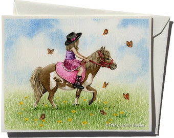 Pony Ride Greeting Card by Tracy Lizotte
