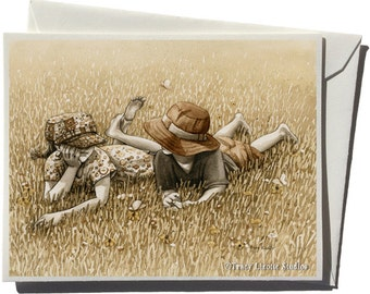 Field Day Greeting Card by Tracy Lizotte
