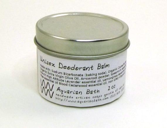 Unisex Deodorant Balm - Natural Deodorant - Organic Deodorant - Aromatherapy -  Vegan 2 oz
